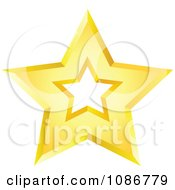 Clipart Golden Star With A Cut Out Center 3 Royalty Free Vector Illustration