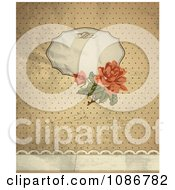 Clipart Vintage Victorian Rose Background With Copyspace Writing And Dots Royalty Free Vector Illustration
