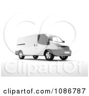 Clipart 3d White Van Royalty Free CGI Illustration