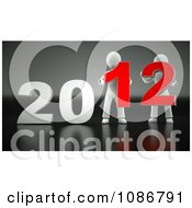 Clipart 3d People Holding 2012 Royalty Free CGI Illustration