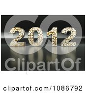 Clipart 3d Cracking 2012 Royalty Free CGI Illustration