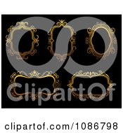 Clipart Ornate Golden Frames 2 Royalty Free Vector Illustration
