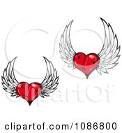 Winged Red Hearts 3