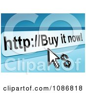 Clipart Buy It Now Url Bar With A Dollar And Arrow Cursor Royalty Free Vector Illustration by Vector Tradition SM