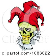Clipart Green Faced Joker With A Red Hat Royalty Free Vector Illustration by Vector Tradition SM