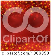 Clipart Red And Orange Christmas Star Background Royalty Free CGI Illustration by KJ Pargeter