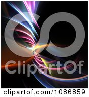 Clipart Twisting Rainbow Fractal On Black Royalty Free CGI Illustration