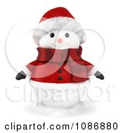 Clipart 3d Snowman In A Santa Suit Royalty Free CGI Illustration