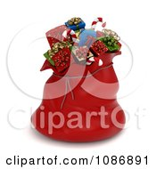 Clipart 3d Red Santa Sack Full Of Christmas Gifts Royalty Free CGI Illustration by BNP Design Studio