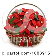 Clipart 3d Poinsettia Gift Basket Royalty Free CGI Illustration by BNP Design Studio
