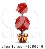 Clipart 3d Poinsettia Topiary Plant Royalty Free CGI Illustration by BNP Design Studio