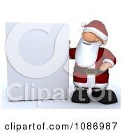 Clipart 3d Santa Presenting A Sign Royalty Free CGI Illustration