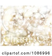 Clipart Glittery Gold Christmas Background Royalty Free CGI Illustration