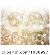 Clipart Golden Christmas Background With White Snowflakes Royalty Free CGI Illustration