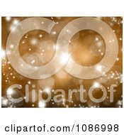 Sparkly Gold Christmas Background With Flares And Bursts