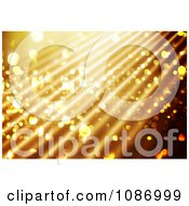 Clipart Sparkly Gold Christmas Background With Rays Royalty Free CGI Illustration