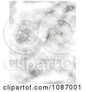 Silver Starry Christmas Background With Flares Of Light