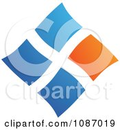 Clipart Orange And Blue Squares Forming A Diamond Royalty Free Vector Illustration