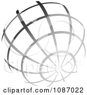 Clipart Gradient Gray Wire Globe Royalty Free Vector Illustration