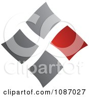 Clipart Red And Gray Squares Forming A Diamond Royalty Free Vector Illustration by TA Images
