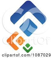 Clipart Green Orange And Blue Diamonds Royalty Free Vector Illustration