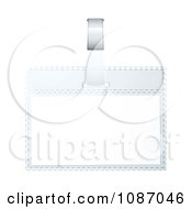 Clipart 3d Blank Business Name Tag Royalty Free Vector Illustration by michaeltravers