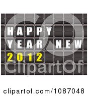 Clipart 3d Happy New Year 2012 Flip Sign Royalty Free Vector Illustration by michaeltravers