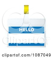 Clipart 3d Hello My Name Is Tag Royalty Free Vector Illustration by michaeltravers