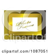 Clipart 3d Golden Photo Frame With Sample Text Royalty Free Vector Illustration by michaeltravers