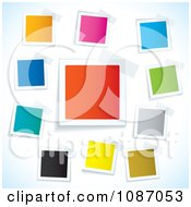 Clipart Taped Colorful Square Tags Royalty Free Vector Illustration