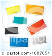 Clipart Taped Colorful Rectangle Tags Royalty Free Vector Illustration by michaeltravers