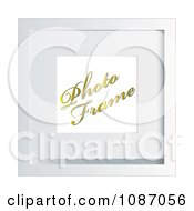Clipart 3d White Photo Frame With Sample Text Royalty Free Vector Illustration by michaeltravers