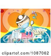Clipart Doctor Flying Around The World With A H1N1 Flu Syringe And Medicine Royalty Free Vector Illustration by mayawizard101