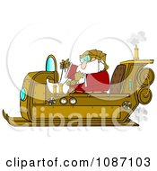 Clipart Steampunk Santa In His Sleigh Royalty Free Illustration