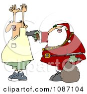 Clipart Santa Robbing A Man Royalty Free Vector Illustration