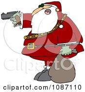 Santa Aiming A Gun