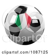 Clipart 3d Italy Soccer Championship Of 2012 Ball Royalty Free CGI Illustration