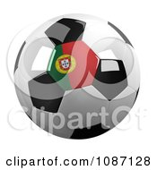 Clipart 3d Portugal Soccer Championship Of 2012 Ball Royalty Free CGI Illustration by stockillustrations