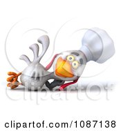 3d White Chef Chicken Reclined
