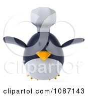 Clipart 3d Penguin Chef Flying Royalty Free CGI Illustration