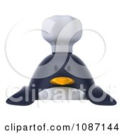 Clipart 3d Penguin Chef Holding A Sign 1 Royalty Free CGI Illustration