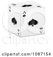 Clipart 3d Ace Of Spades Cube With A Reflection Royalty Free Vector Illustration by Andrei Marincas
