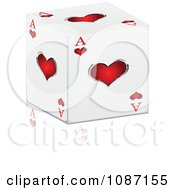Clipart 3d Ace Of Hearts Cube With A Reflection Royalty Free Vector Illustration by Andrei Marincas