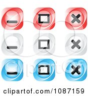Clipart Red White And Blue Website Browser Buttons Royalty Free Vector Illustration by Andrei Marincas