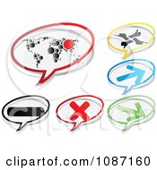 Clipart Icon Chat Balloons Royalty Free Vector Illustration