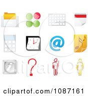 Clipart Office Website Icons Royalty Free Vector Illustration