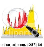 Clipart Magnifying Glass Over A Histogram Royalty Free Vector Illustration by Andrei Marincas