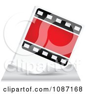 Clipart Photo Film Strip Icon Royalty Free Vector Illustration