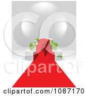 Clipart 3d Red Carpet Leading To A Map Podium Royalty Free Vector Illustration by Andrei Marincas