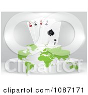 Clipart Ace Playing Cards On A Map Podium Royalty Free Vector Illustration by Andrei Marincas